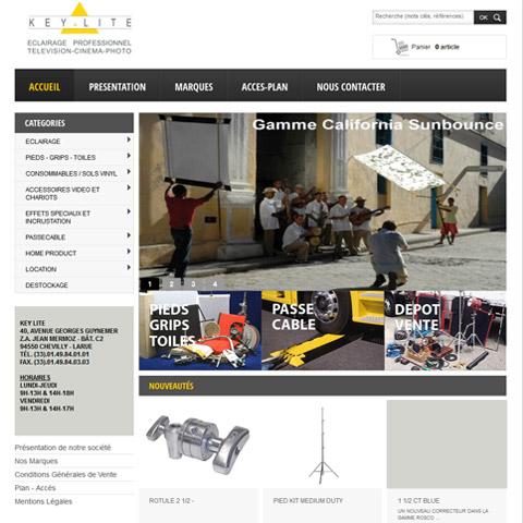KEY LITE – Site E-Commerce de produits d'éclairage synchronisé à Sage 100 avec Alliastore solution eCommerce
