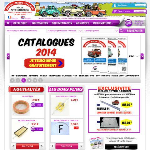 Melun Retro Passion – Site E-Commerce de pièces détachées pour voitures anciennes synchronisé avec Apinégoce
