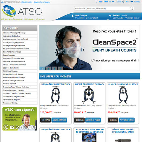 ATSC – Site E-Commerce de matériel professionnel interfacé avec Sage 100