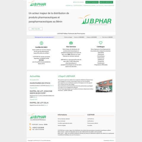 U.B.PHAR – Site E-Commerce interfacé à Sage 100 i7 avec Alliastore connecteur eCommerce Sage