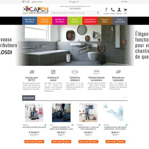 CAPEM – Site E-Commerce interfacé à Sage Apinégoce avec Alliastore connecteur eCommerce Sage